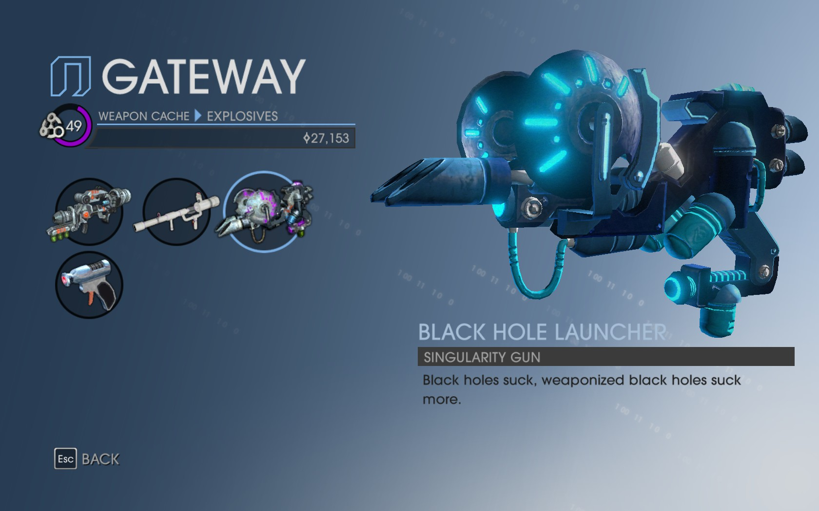 sr2 gun black hole -#main