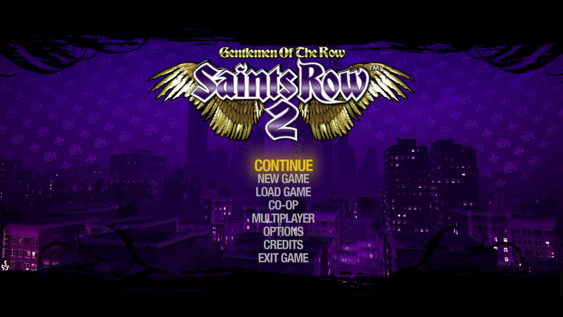 saints row the third styled main menu background mod